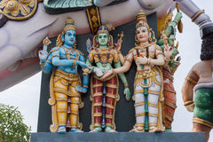Meenakshi夏夫在Karuppana瑟米寺庙的婚礼场面 库存照片