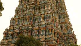 Meenakshi阿曼寺庙在马杜赖,印度 库存图片