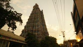 Meenakshi阿曼寺庙在马杜赖,印度 免版税库存图片