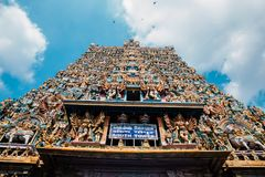 Meenakshi Amman Temple in Madurai, India royalty free stock photo