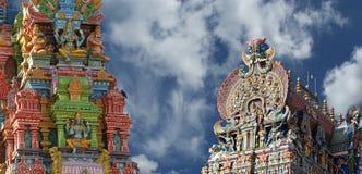 Meenakshi hindu temple in Madurai Royalty Free Stock Photos