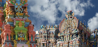 Meenakshi hindu temple in Madurai Royalty Free Stock Images