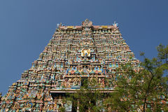 Meenakshi hindu temple in Madurai, South India Royalty Free Stock Photos