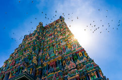 Meenakshi hindu temple in Madurai Stock Photos