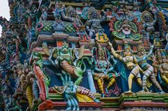 Meenakshi hindu temple in Madurai, royalty free stock photos