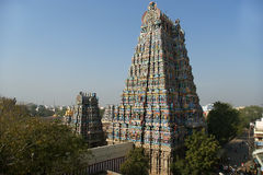 Meenakshi hindu temple in Madurai, Tamil Nadu, South India. Scul Royalty Free Stock Photo