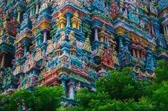 Meenakshi hinduisk tempel i Madurai, Royaltyfri Bild
