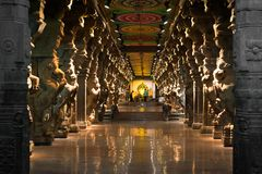 Meenakshi Sundareswarar Temple. India, Madurai Stock Photography