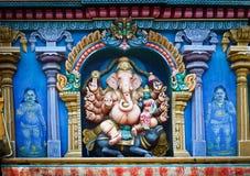 Meenakshi tempel i Madurai, Indien Arkivfoto