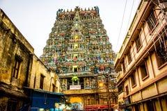 Meenakshi tempel, Madurai Arkivbilder