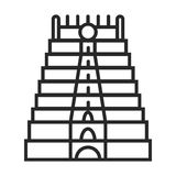 Meenakshi Temple India icon stock illustration