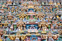 The Meenakshi Temple, Madurai (India). The Meenakshi Temple in Madurai (India Stock Photo