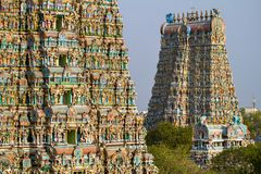 Meenakshi temple in Madurai, Tamil Nadu, India Stock Photos