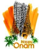 Meenakshi temple in Onam celebration background Stock Images