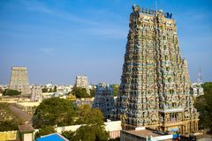 Meenakshi temple Royalty Free Stock Photo