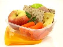 Meeneem geïsoleerder maaltijd, Stock Foto's