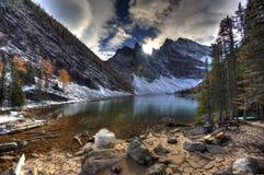 Meer Agnes - Alberta, Canada royalty-vrije stock fotografie