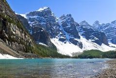 Meer Agnes, Nationaal Park, Banff Alberta, Canada stock foto