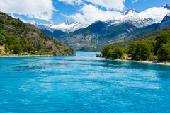 Meer Algemene Carrera in Patagonië, Chili Royalty-vrije Stock Afbeelding