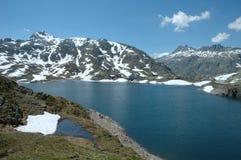Meer in Alpen Royalty-vrije Stock Afbeelding