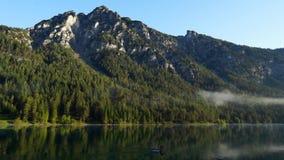 Meer in Alpen stock videobeelden