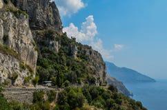 Meer an Amalfi-Küste Stockfoto