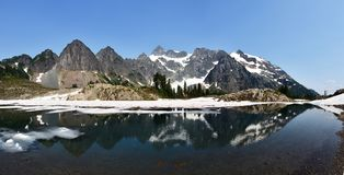Meer Ann Trail, MT Nationaal Bos bakker-Snoqualmie Stock Afbeeldingen