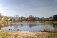 Meer in Anna Landbouwbedrijf op de rand van Hilversum Oost Stock Fotografie