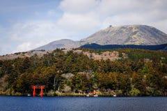 Meer Ashi van Hakone, Japan Stock Foto