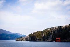 Meer Ashi van Hakone, Japan Stock Foto's