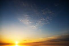 Meer auf Sonnenuntergang Lizenzfreies Stockbild