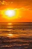 Meer Avalon Orange Sun Vert Stockfotos
