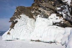 Meer Baikal in de winter stock afbeeldingen