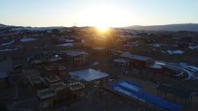 Meer Baikal in de winter stock video
