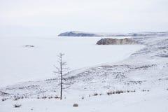 Meer Baikal, het landschap van de de Golfwinter van Ulan Hushinsky Het eiland van Olkhon Stock Afbeeldingen
