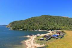 Meer Baikal met regeling Stock Afbeeldingen