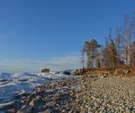 Meer Baikal, Oostelijk Siberië, Rusland, de winter 2 stock afbeelding
