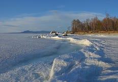 Meer Baikal, Oostelijk Siberië, Rusland, de winter 3 royalty-vrije stock foto