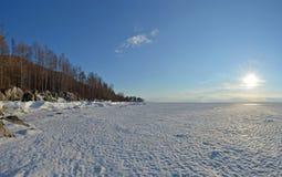 Meer Baikal, Oostelijk Siberië, Rusland, de winter 1 stock afbeeldingen
