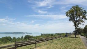 Meer Balaton in de zomer Stock Foto