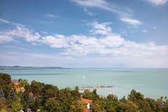 Meer Balaton in Tihany in Hongarije Royalty-vrije Stock Foto
