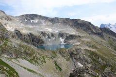 Meer in bergen Stock Foto
