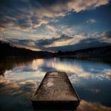 Meer bij zonsondergang Stock Fotografie
