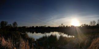 Meer bij zonsondergang in Colorado Royalty-vrije Stock Afbeelding
