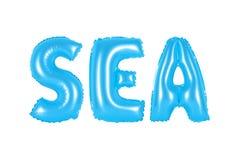Meer, blaue Farbe Stockfoto