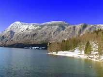 Meer Bohinj. Julian Alpen. Slovenië Stock Afbeelding