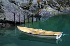Meer Bondhus in het nationale park van Folgefonna, Noorwegen stock foto's