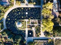 Meer in botanisch tuinsatellietbeeld royalty-vrije stock foto