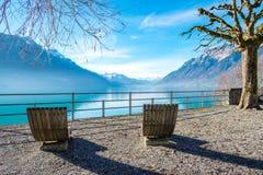 Meer Brienz, Zwitserland Royalty-vrije Stock Foto's
