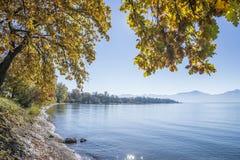 Meer Chiemsee in de herfst Royalty-vrije Stock Foto's